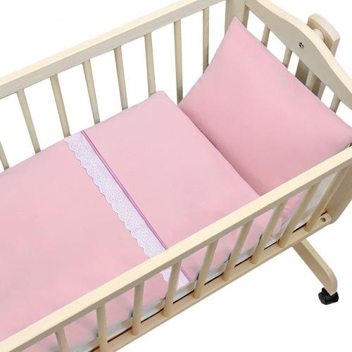 Babyrenka povlečení do kolébky 90x90 cm Amelia pink PK9API