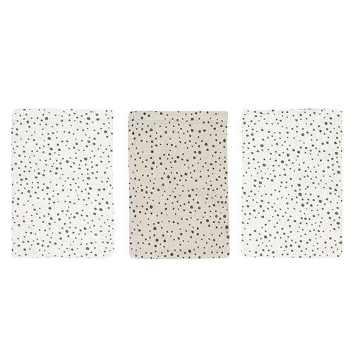 Bébé Jou žínky bambusové mušelínové 3 ks Fabulous Dots B3050059