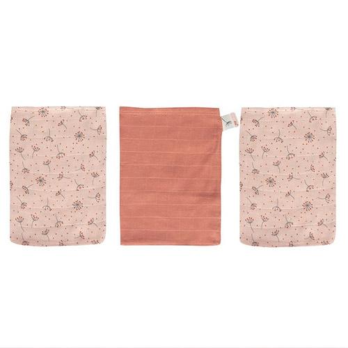 Bébé Jou žínky bambusové mušelínové 3 ks Fabulous Wish Pink B3050060