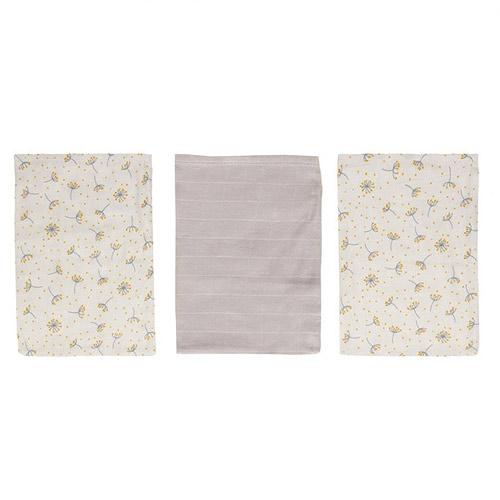 Bébé Jou žínky bambusové mušelínové 3 ks Fabulous Wish Grey B3050062