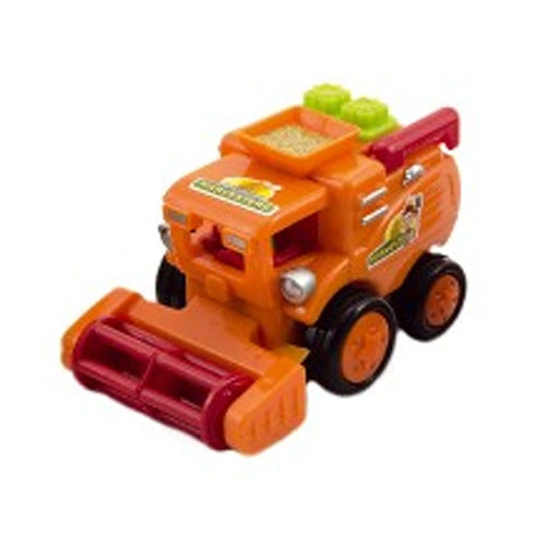 Teddies Kombajn plast 10 cm oranžový 311068O
