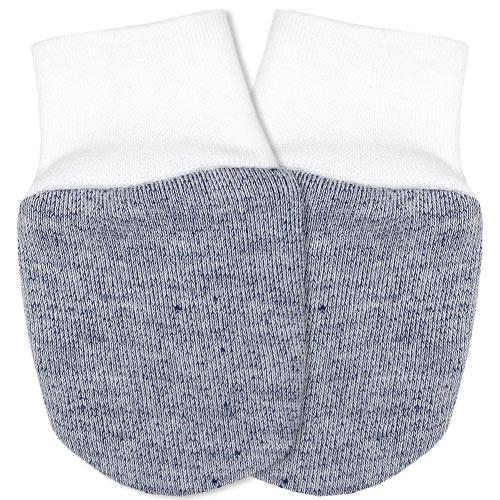 Babyrenka kojenecké rukavičky Úplet šedomodrý melír RKSMM029