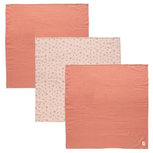 Bébé Jou plena mušelínová 70x70 cm 3 ks Fabulous Wish Pink B3051060