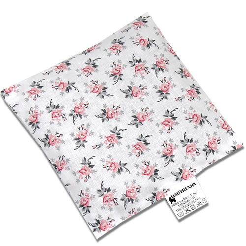 Babyrenka nahřívací polštářek 15x15 cm z třešňových pecek Rose grey PTPRG47
