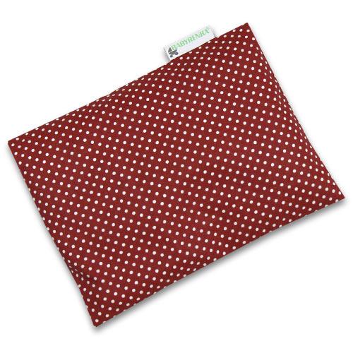 Babyrenka nahřívací polštářek z pohankových slupek s povlakem 20x14 cm Dots dark red PPPDR65