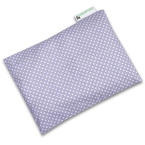 Babyrenka nahřívací polštářek z pohankových slupek s povlakem 20x14 cm Dots lila PPPDL65