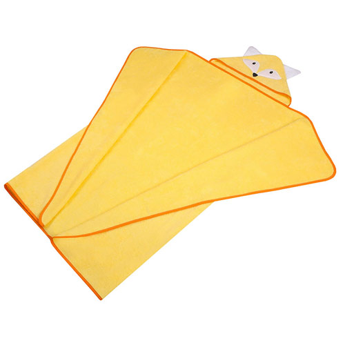 Duetbaby osuška s kapucí froté 120x100 cm Liška žlutá 326LZ