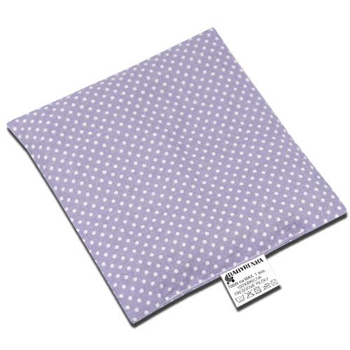 Babyrenka nahřívací polštářek 15x15 cm z třešňových pecek Dots lila PTPDL47