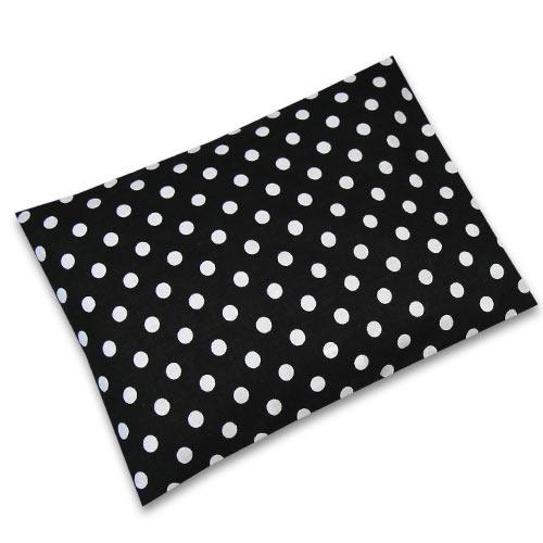 Babyrenka nahřívací polštářek z pohankových slupek s povlakem 20x14 cm Puntík black PPPPBL65