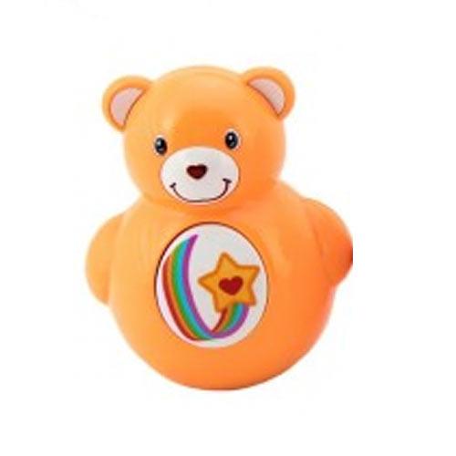 Teddies Roly Poly medvídek plast 10 cm oranžový 850182O