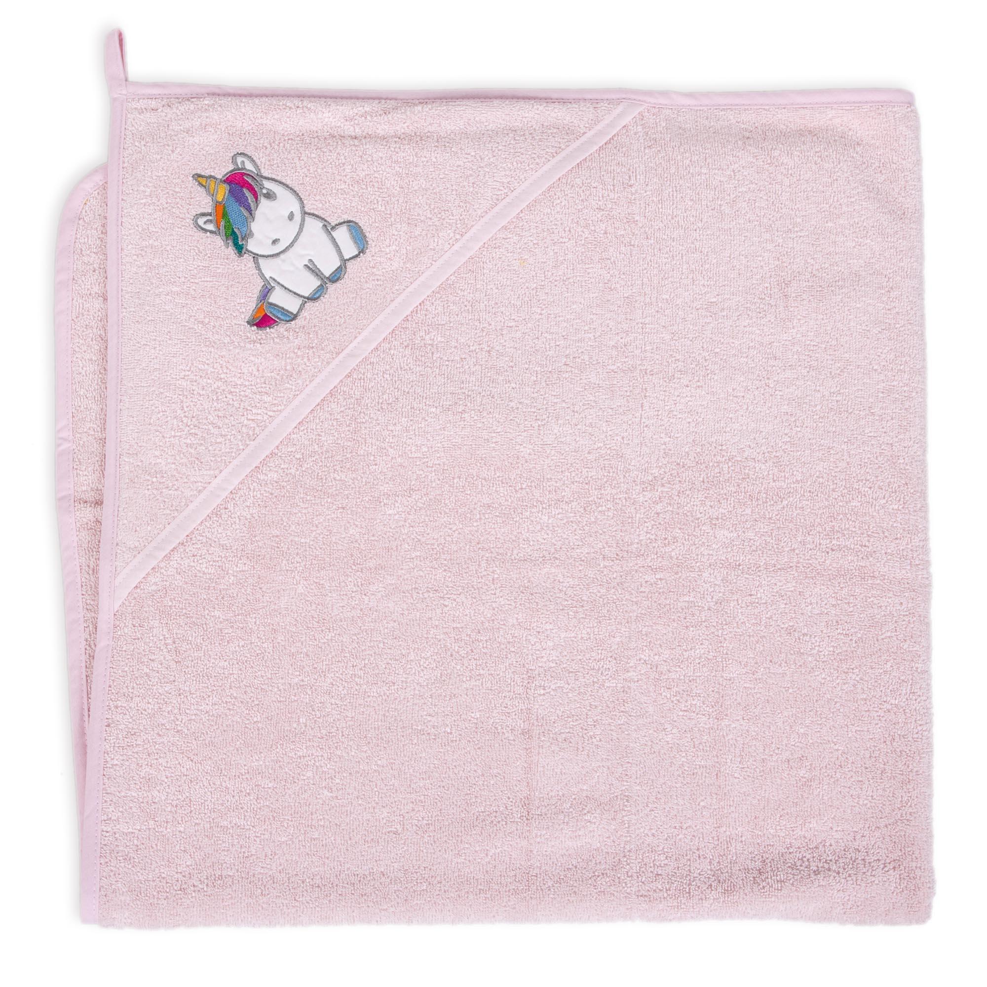 Ceba Baby osuška s kapucí 100x100 Unicorn pink W-815-302-579