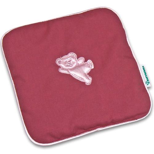 Nahřívací polštářek z třešňových pecek Ribbon 15x15 cm Bear old pink PTPRBOP