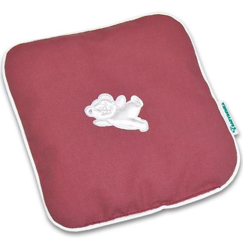 Nahřívací polštářek z třešňových pecek Ribbon 15x15 cm Bear old pink white PTPRBOPW