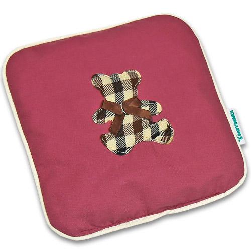 Nahřívací polštářek z třešňových pecek Ribbon 15x15 cm Bear Cube old pink PTPRBCOP
