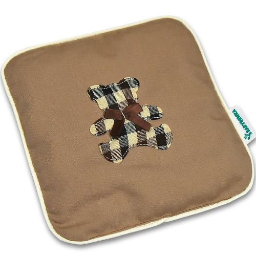 Nahřívací polštářek z třešňových pecek Ribbon 15x15 cm Bear Cube beige PTPRBCB