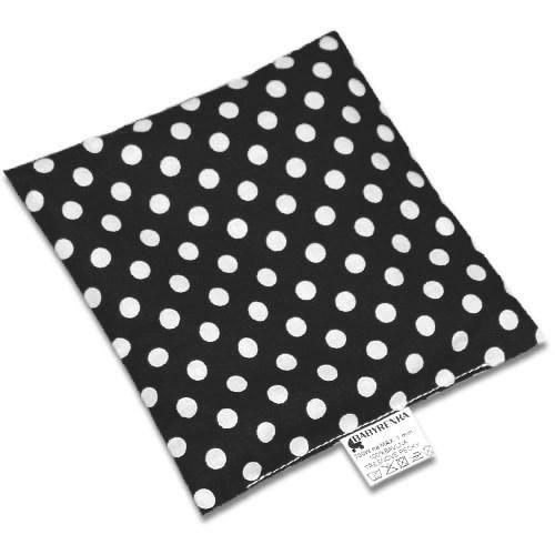Babyrenka nahřívací polštářek 15x15 cm z třešňových pecek Puntík black PTPPBK47