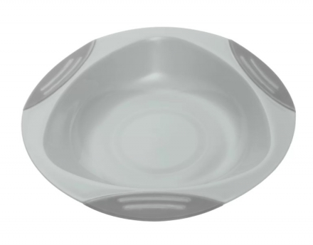Baby Ono dětský plastový talíř 16 cm s přísavkou šedý BO1062/03