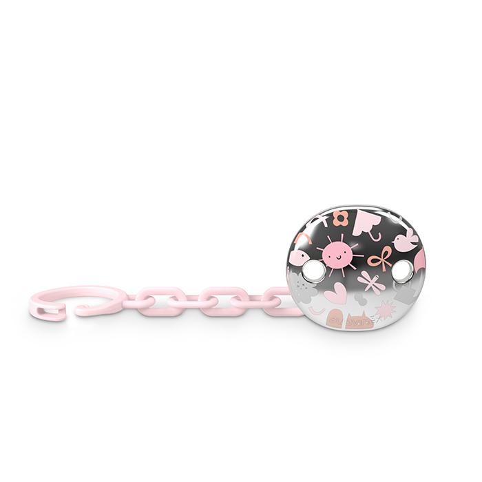 Suavinex klip na dudlík Memories šperk růžový 3800928M-1