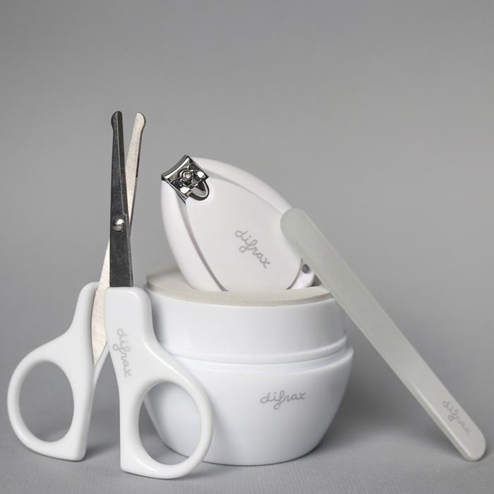 Difrax dětská manikúra De luxe bílá 3 ks DF89