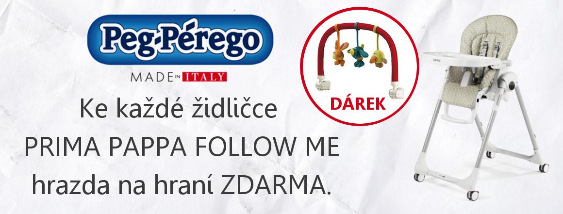 PEG PEREGO - Prima Pappa Follow Me - hrazda zdarma