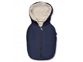fusssack footmuff tulip navy 01 babyschale