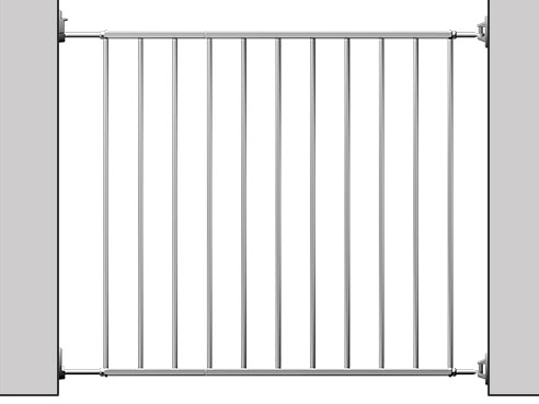 Reer Zábrana Basic simple-Lock kovová