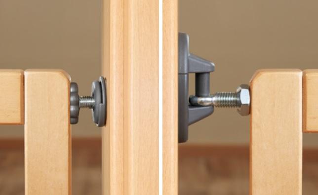 Reer Zábrana Basic TwinFix Active-Lock dřevěná