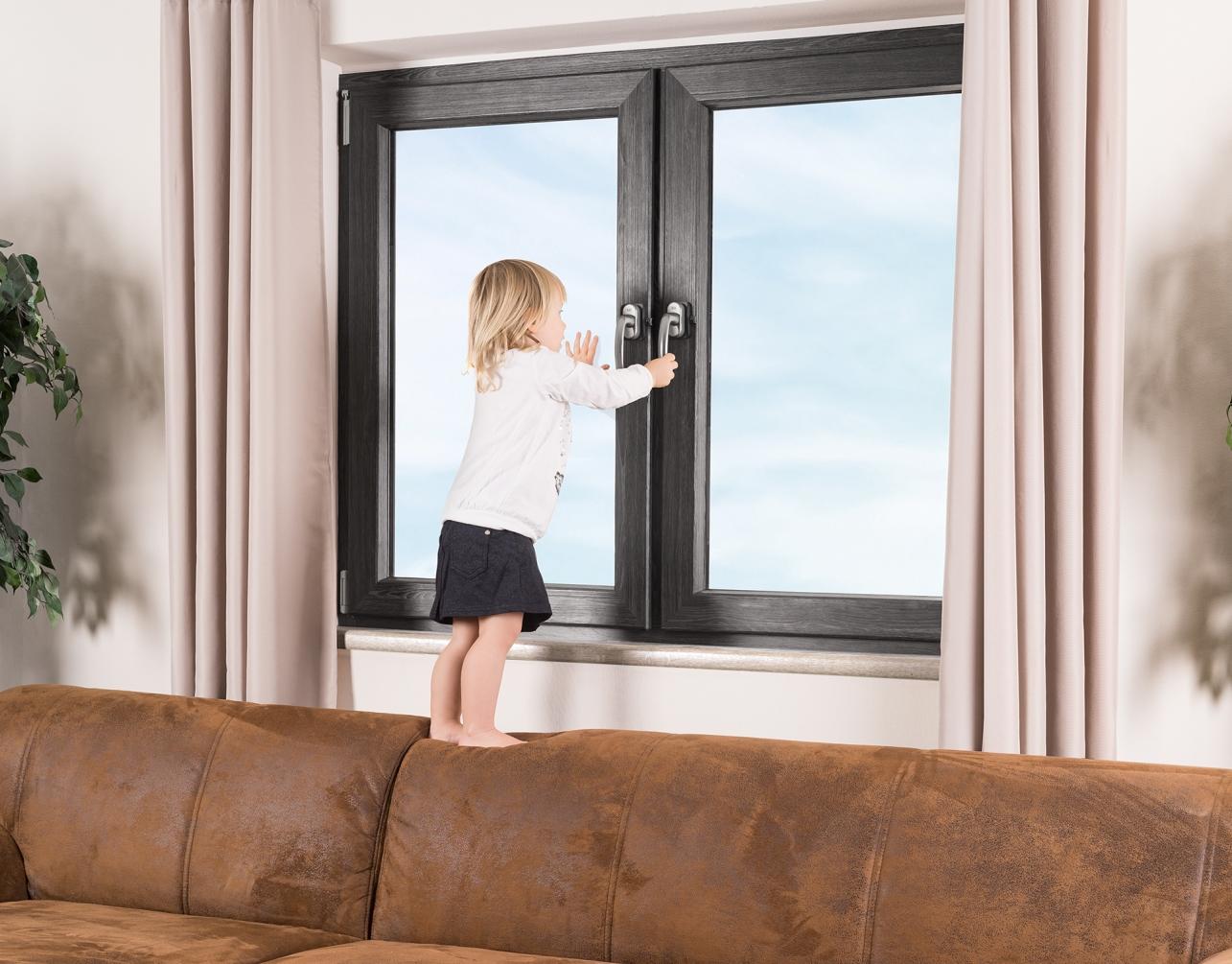 Reer Zámek na okna a balkónové dveře anthracit