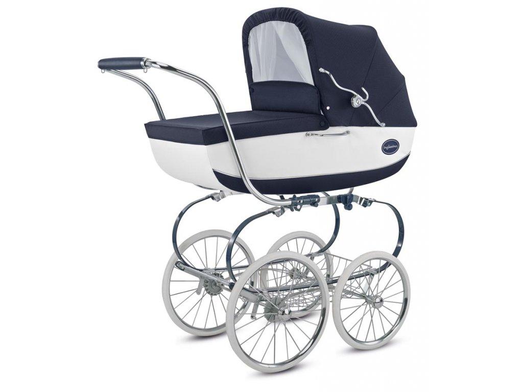 Inglesina CLASSICA 2018 JACQUARD BIANCO BLUE - Baby Store c889f5054d