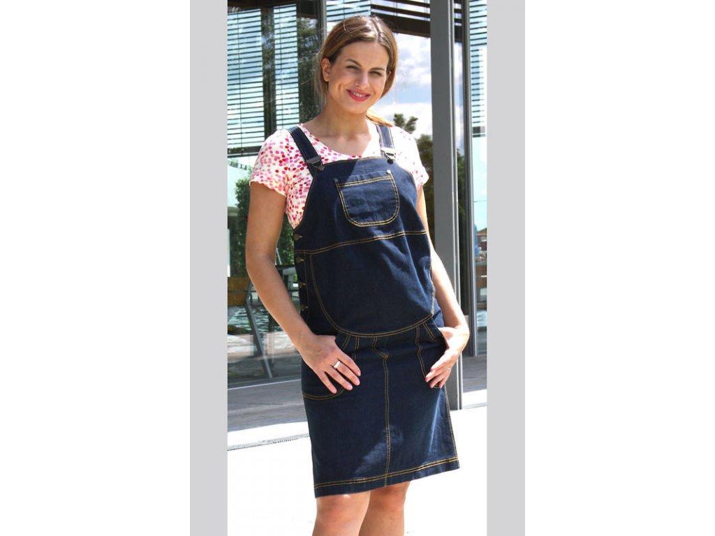 Těhotenská riflová sukně s laclem Rialto Wingles - Baby Store 6348b078a3