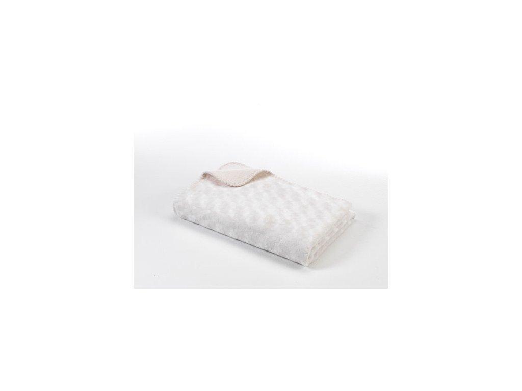 Dětská deka double fleece oboustranná 75x100 off white