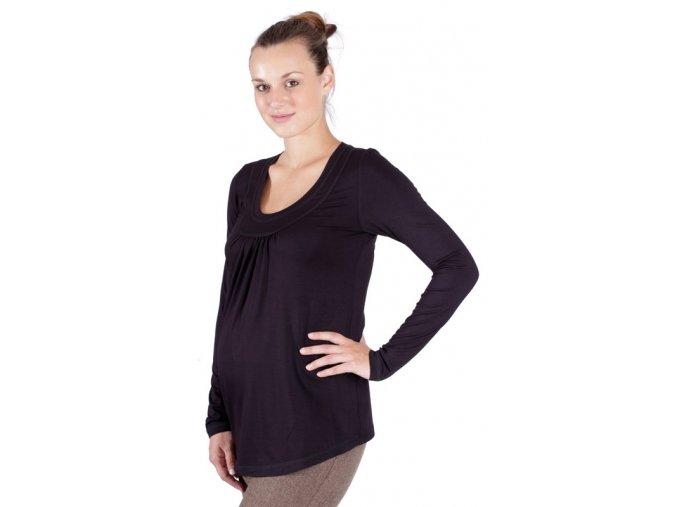 Těhotenské tričko Rialto Rimogne černá 0156 (Dámská velikost 36)
