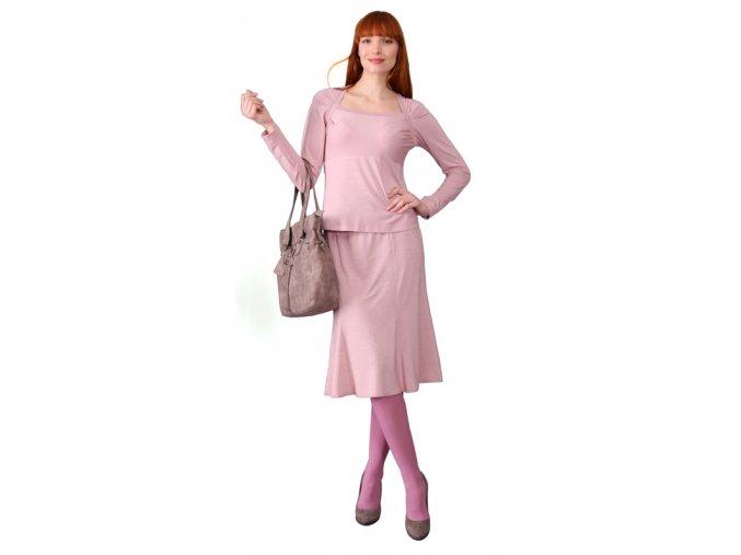 Dámské společenské tričko Rialto Femilet růžový lurex 0274