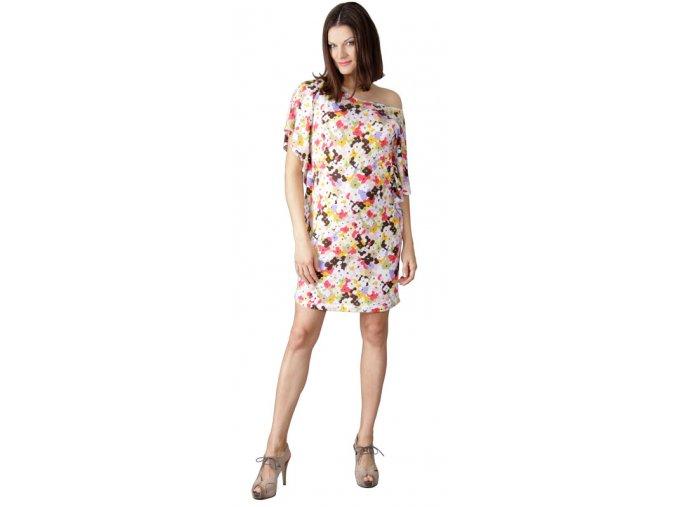 Těhotenské šaty Rialto Loupy barevné květy 1632 (Dámská velikost 36)