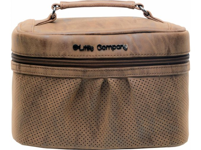 Beautycase kosmetická taška Emily cognac