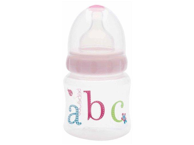 Široká lahvička Bébé-Jou ABC růžová 150 ml