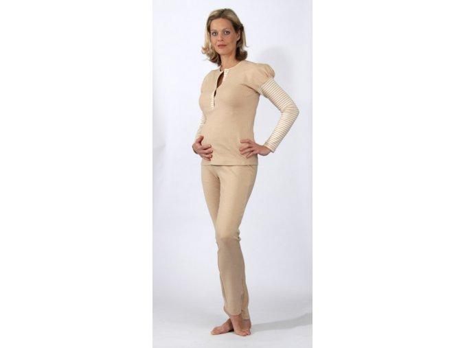 Těhotenský a kojící pyžamový set z 100% bavlny.