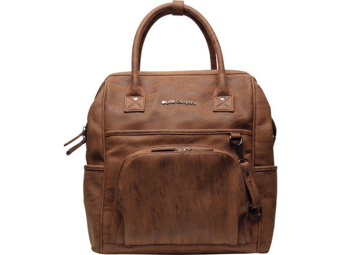 Přebalovací batoh Riga Perfo cognac