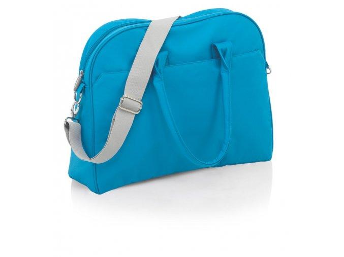 přebalovací taška v tyrkysové barvě