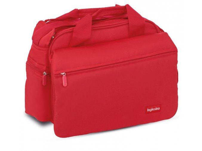 MY BABY BAG RED velmi prostorná přebalovací taška