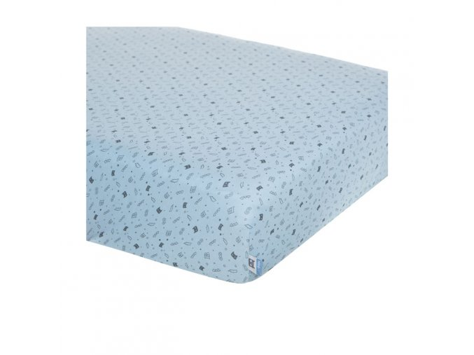 napinaci-prosteradlo-v-modré-s-drobným-motivem--vhnodne-do-male-postylky-nebo-kolebky-40x80cm