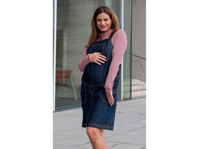 Těhotenská  riflová sukně s laclem Rialto Wingles