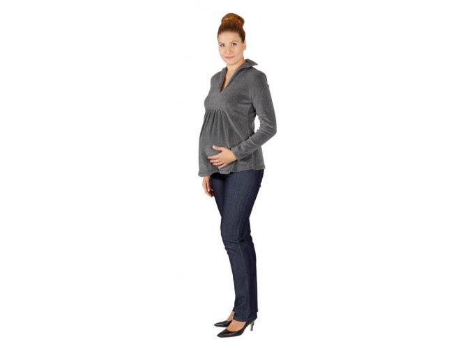 Těhotenská mikina Rialto RANISH šedá 0078
