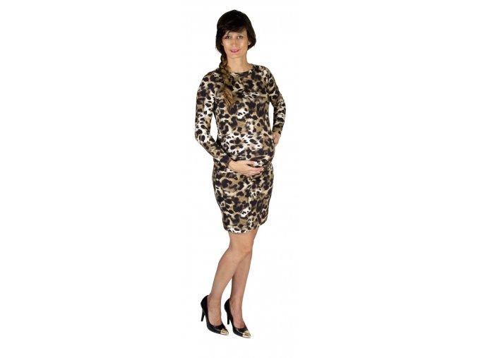 Těhotenské šaty Rialto LArottie, zvířecí vzor 0575 (Dámská velikost 36)