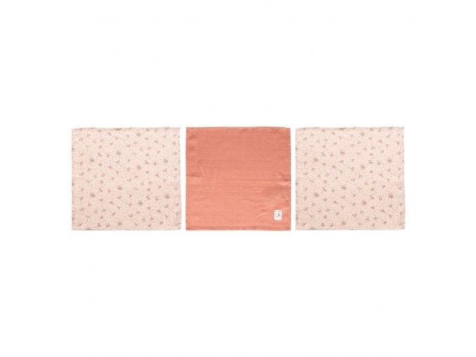 Mušelínová žínka na obličej 3ks Fabulous Wish Pink