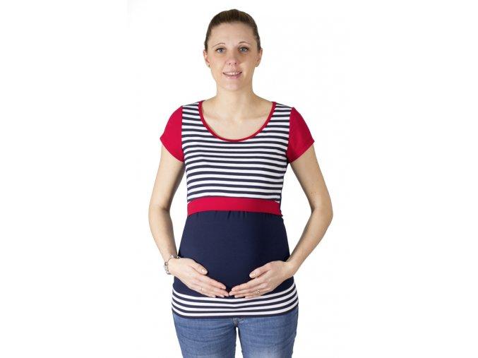 Kojící a těhotenské tričko Rialto Denisa, pruhované 0468