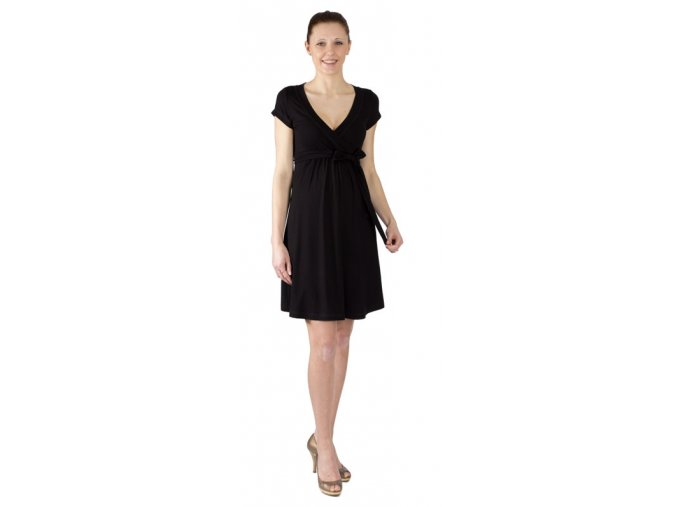 Těhotenské a kojící šaty Rialto Larochette černé 0156