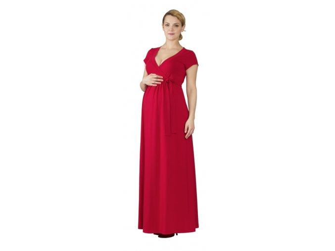 Těhotenské a kojící šaty Rialto Lonchette červené 0441