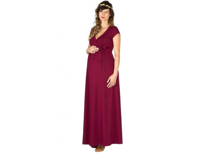 Těhotenské a kojící šaty Rialto Lonchette bordó 0520