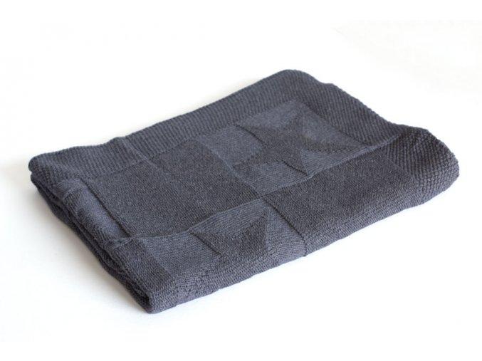 Pletená deka bavlna, Denim, hvězdy, Rialto Baby